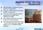 berkeley quick service restaurant