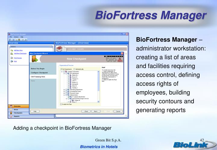 BioFortress Manager