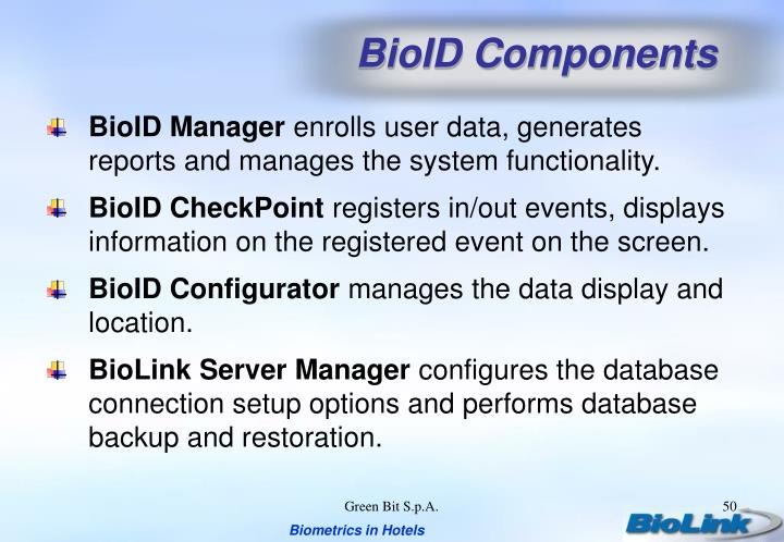 BioID Components
