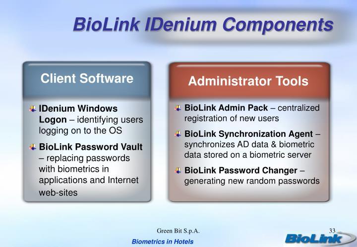 BioLink IDenium Components
