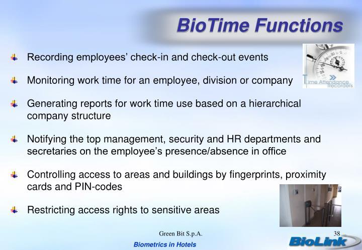 BioTime Functions