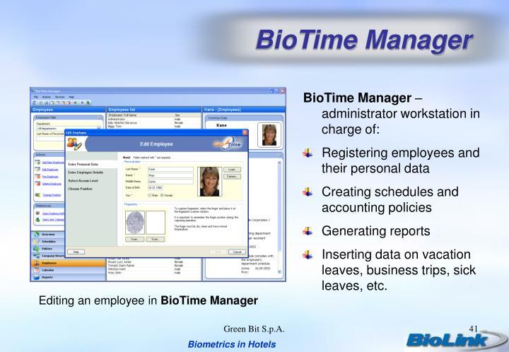 BioTime Manager