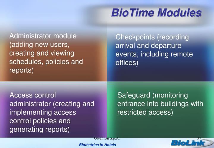 BioTime Modules