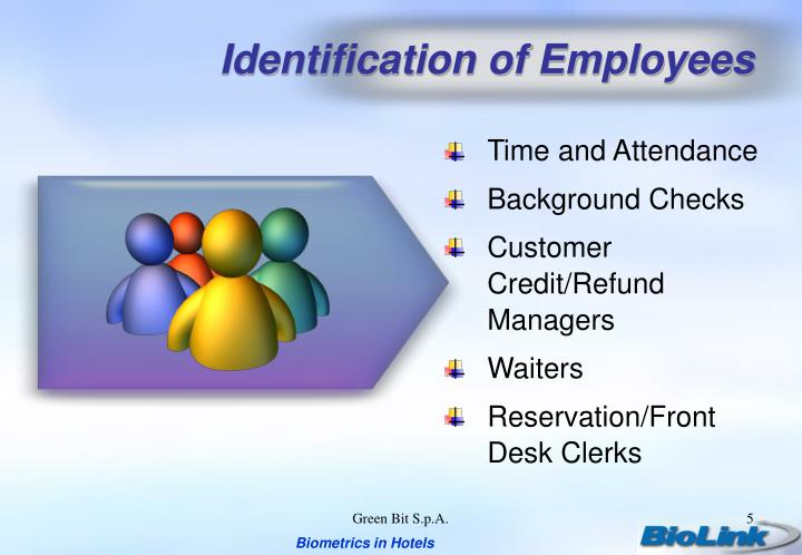 Identification of Employees