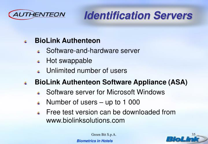 Identification Servers