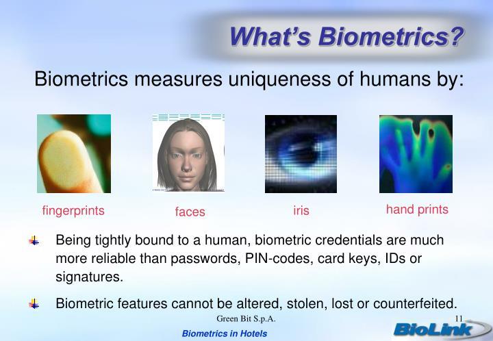 What's Biometrics?