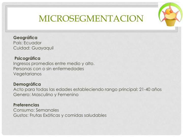 MICROSEGMENTACION
