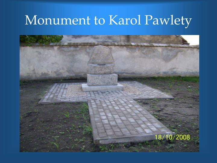 Monument to Karol Pawlety