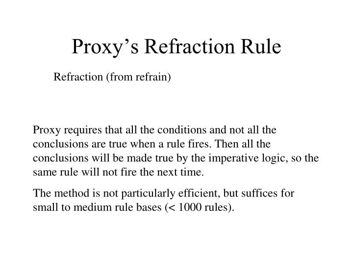 Proxy's Refraction Rule