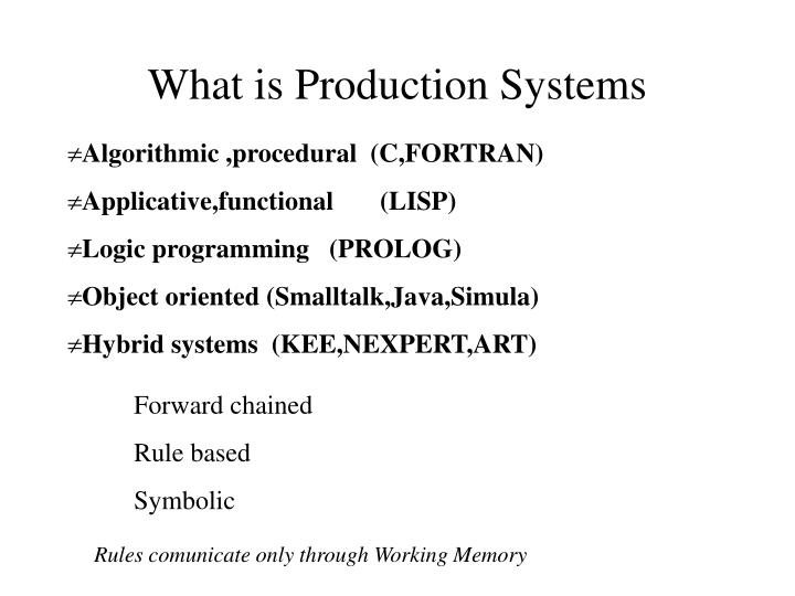 What is production systems