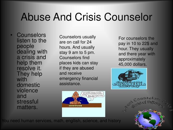 Abuse And Crisis Counselor