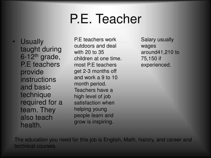 P.E. Teacher