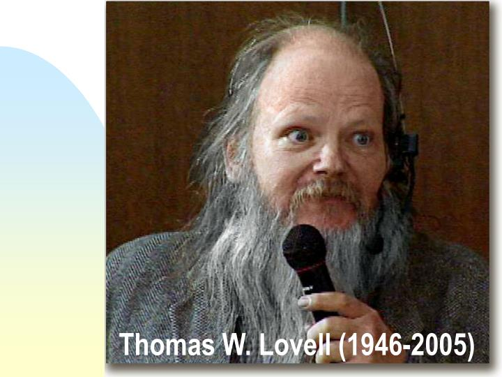 Thomas w lovell 1946 2005