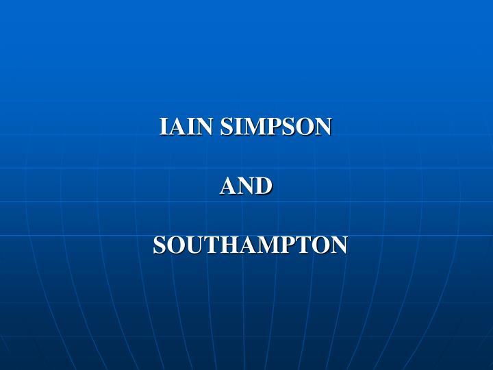 IAIN SIMPSON