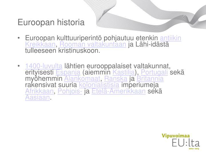 Euroopan historia