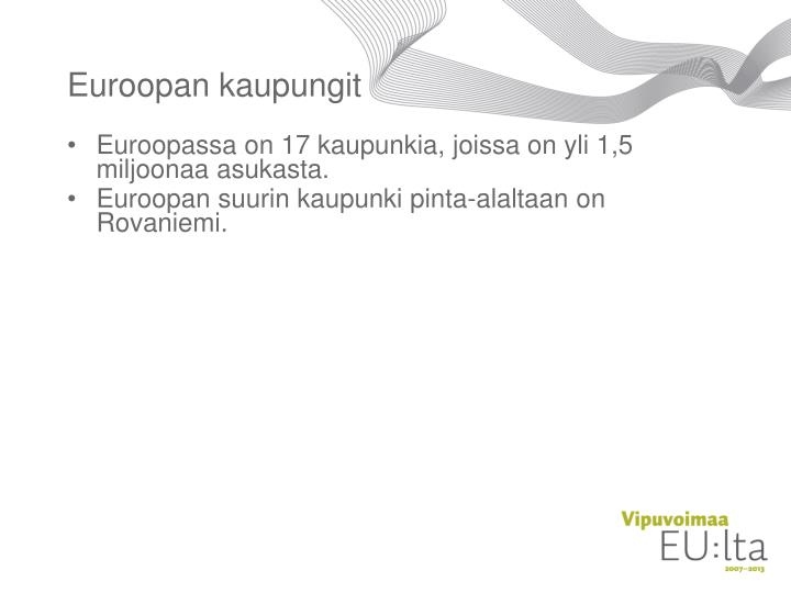 Euroopan kaupungit