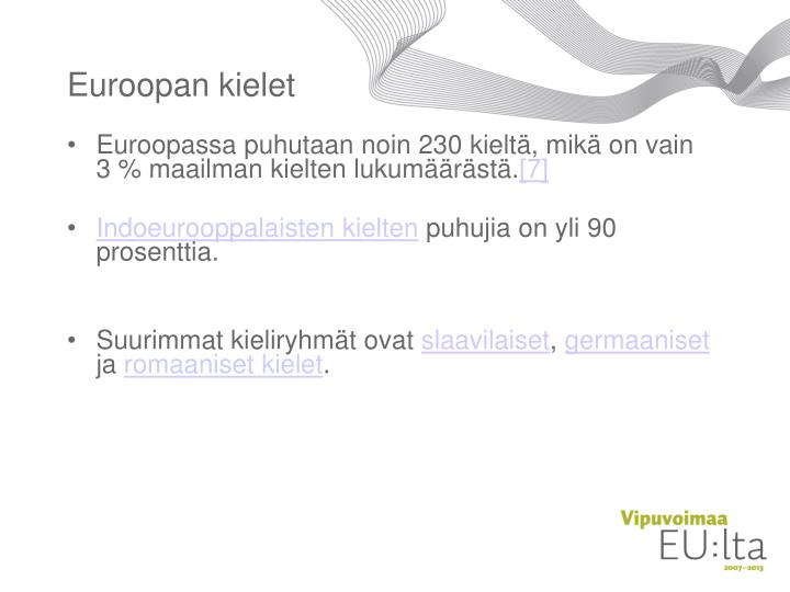 Euroopan kielet