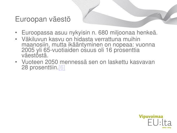 Euroopan väestö