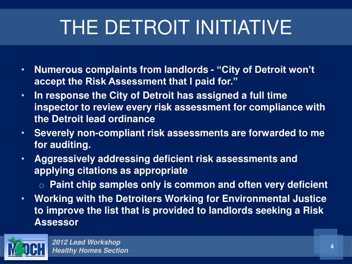 THE DETROIT INITIATIVE