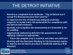 the detroit initiative
