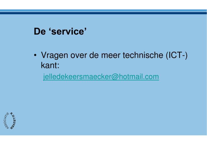 De 'service'