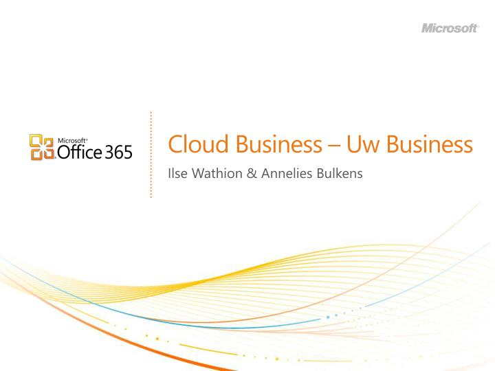 Cloud business uw business