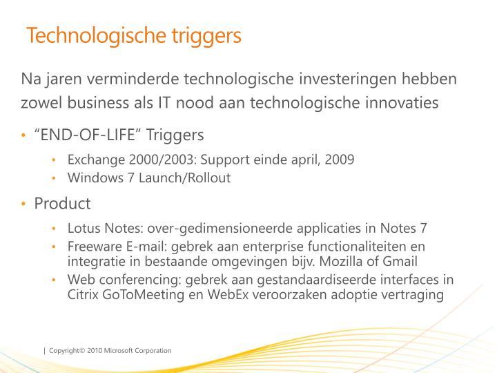 Technologische triggers