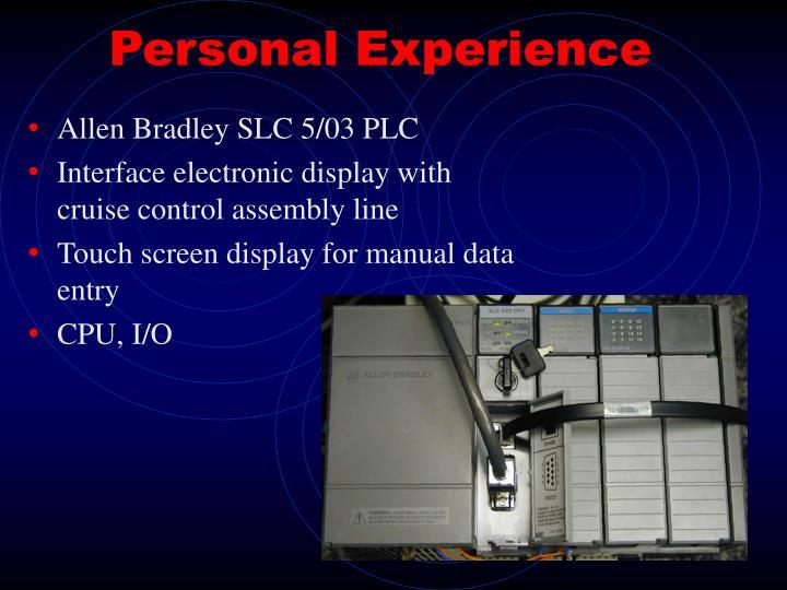 Allen Bradley SLC 5/03 PLC
