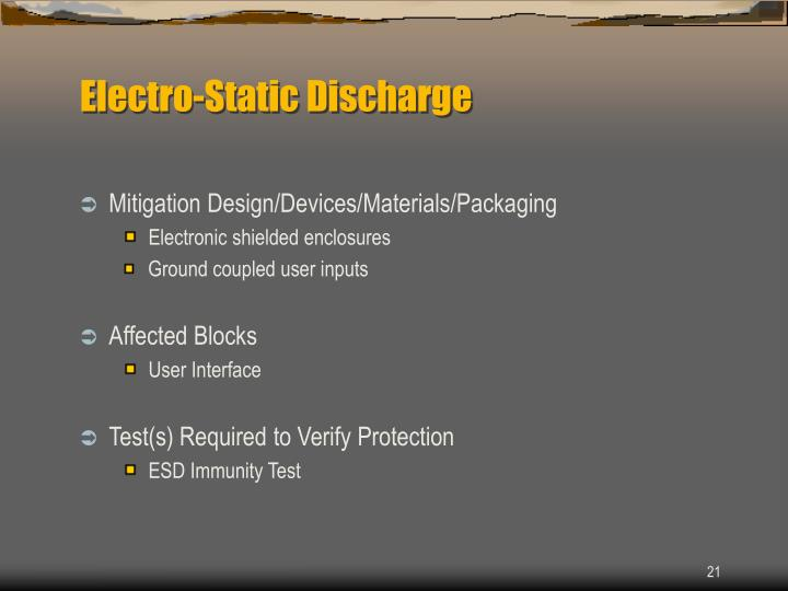 Electro-Static Discharge