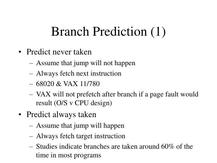 Branch Prediction (1)