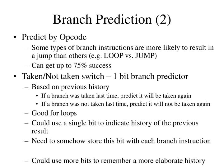 Branch Prediction (2)