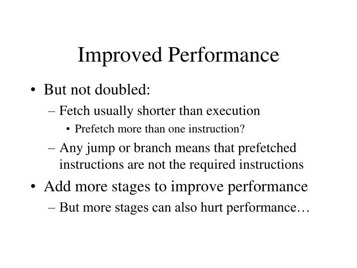 Improved Performance