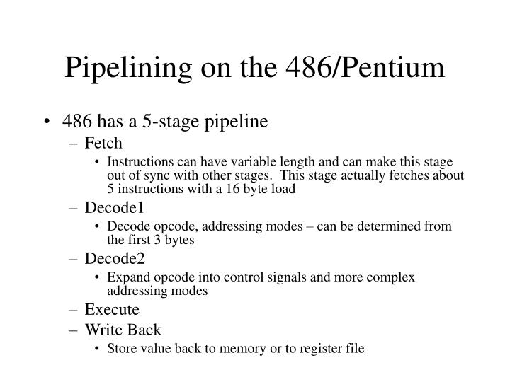 Pipelining on the 486/Pentium