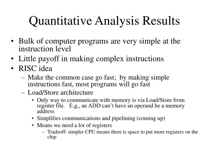 Quantitative Analysis Results