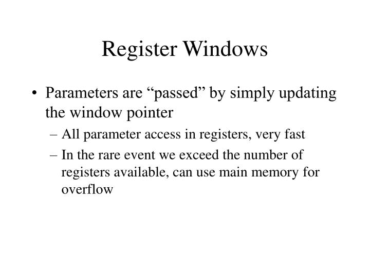 Register Windows