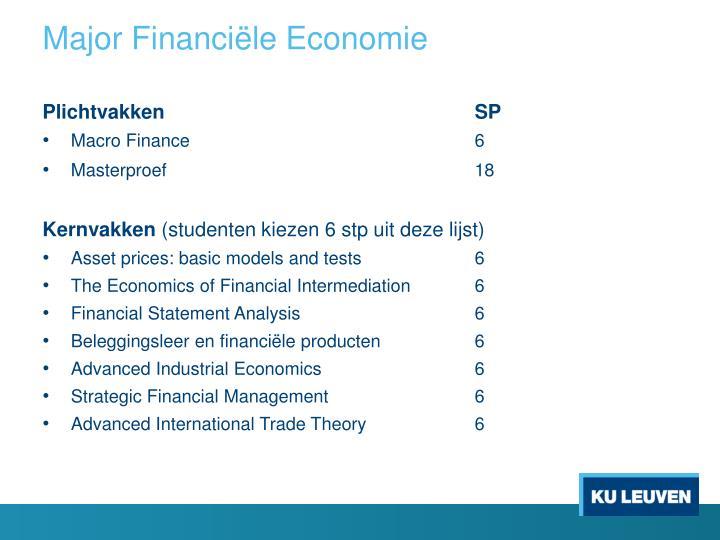 Major Financiële Economie