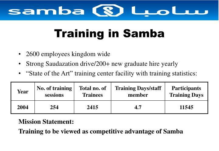 Training in Samba