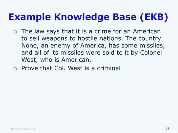 Example Knowledge Base (EKB)