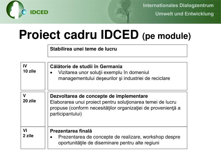 Proiect cadru