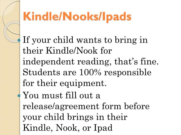 Kindle/Nooks/