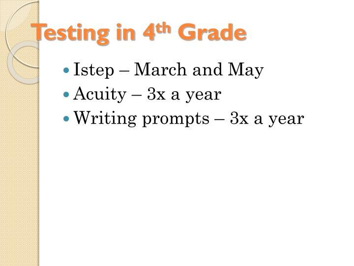 Testing in 4