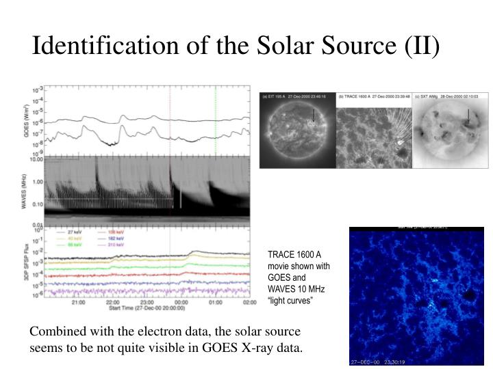 Identification of the Solar Source (II)