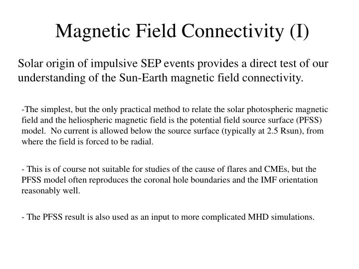 Magnetic Field Connectivity (I)