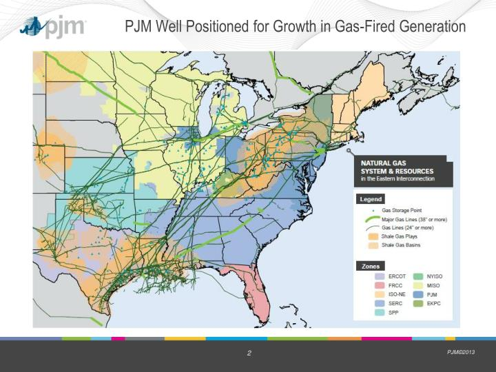 Pjm well positioned for growth in gas fired generation