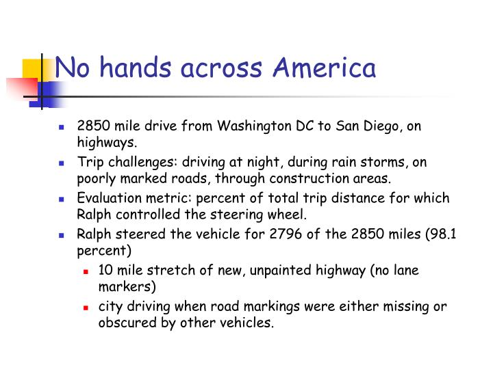 No hands across America