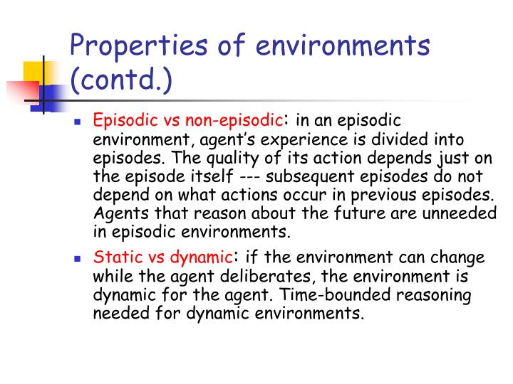 Properties of environments (contd.)