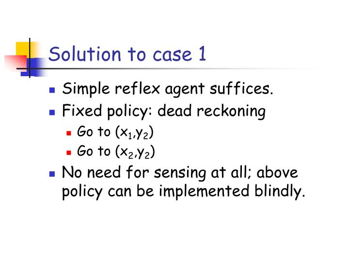Solution to case 1