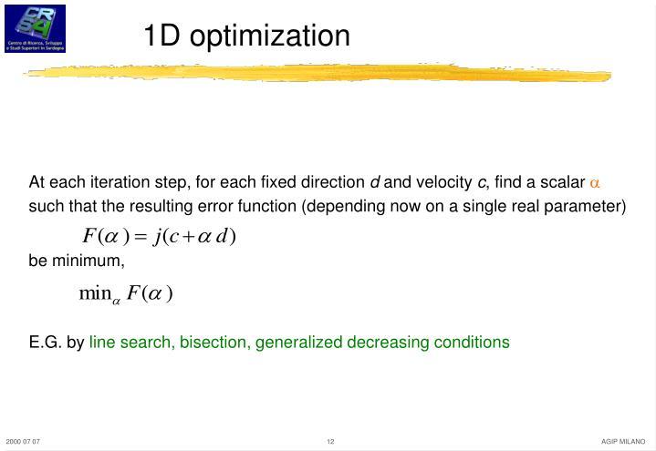1D optimization