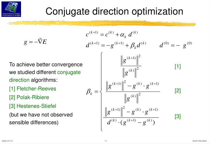 Conjugate direction optimization