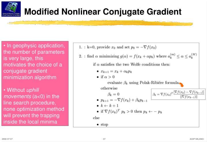 Modified Nonlinear Conjugate Gradient